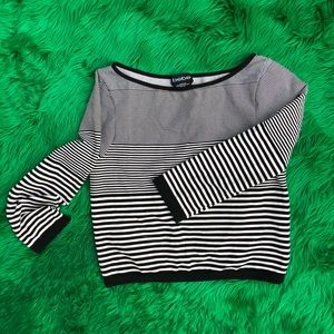 Bebe crop top with stripes